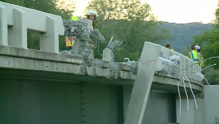 One lane closed on I-90 after semi crash in Winona County