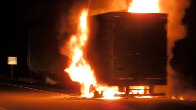 BRF Fire Department responds to semi truck fire on I-94