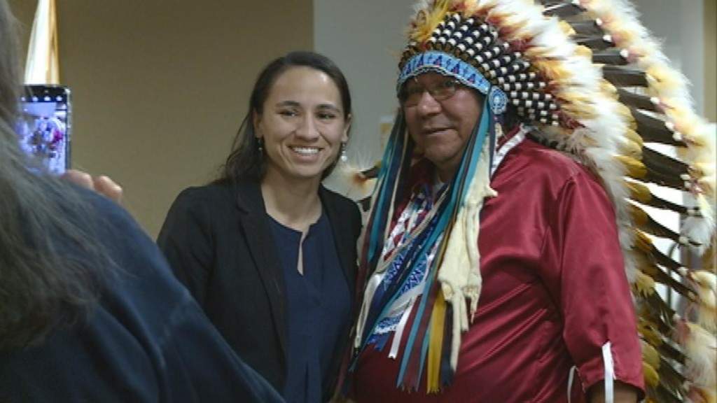 First Native American woman in Congress has local ties