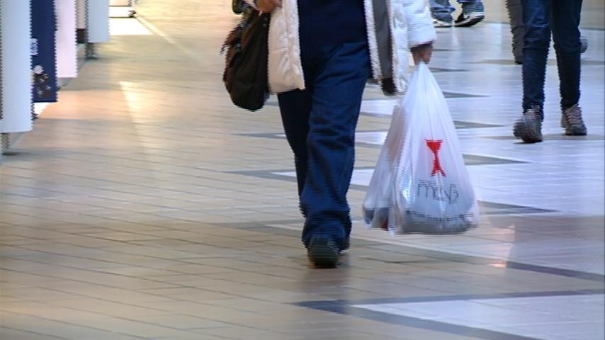 Shoppers take to the mall after Christmas