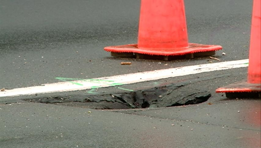 Sink holes popping up on Northside of La Crosse