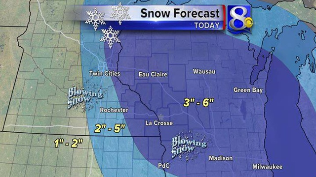 3-6 inches of snow expected in News 8 viewing area