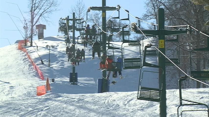 Hundreds of skiers, snowboarders take advantage of fresh snow at Mt. La Crosse