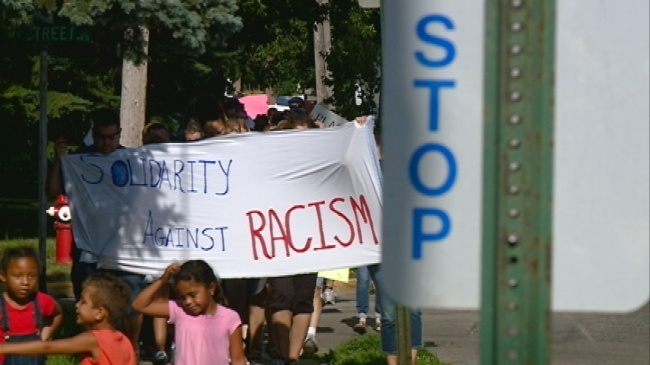 La Crosse residents march a mile to protest racial injustice