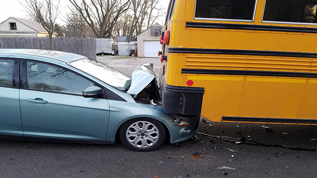 School bus rear ended Monday morning in Sparta