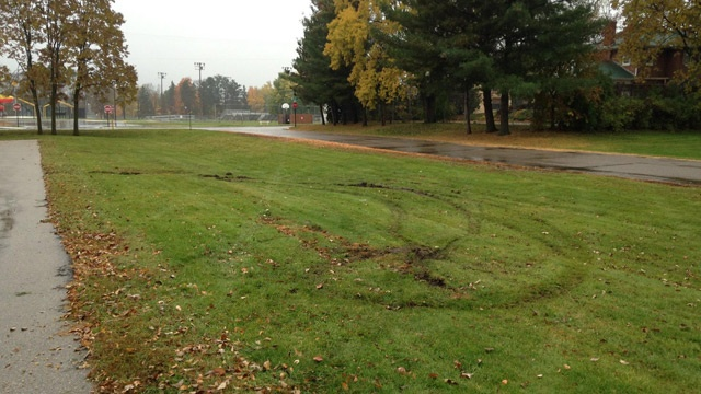 Sparta driver cited for damaging Memorial Park grass