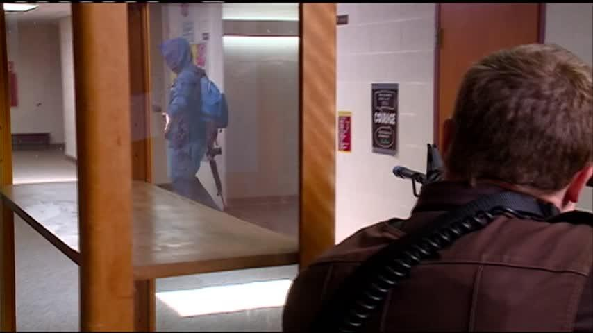 Staff members, first responders practice mock school shooting scenario