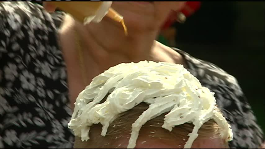 Assisted living home staff turned into human sundaes for fundraiser