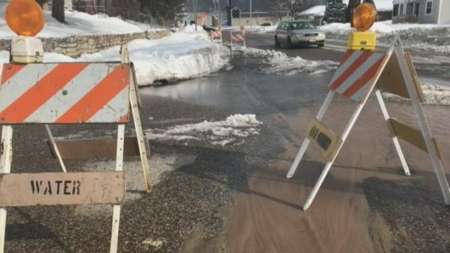 Standing water on area roadways could cause major problems
