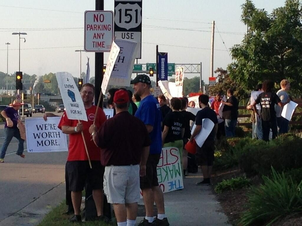 Fast-food workers strike in Madison