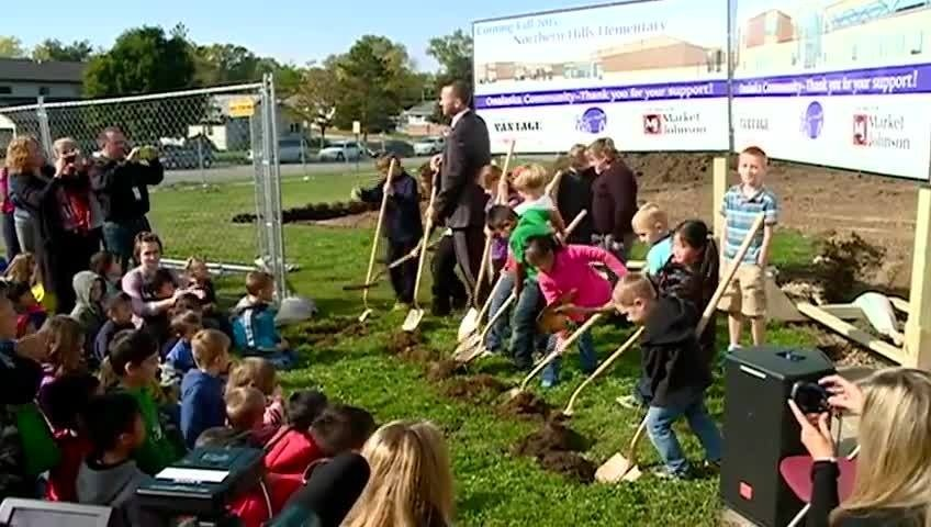 Students help break ground for Northern Hills expansion