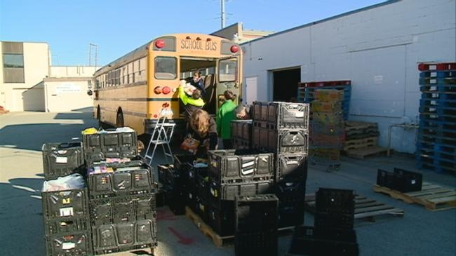 La Crosse middle school students donate a ton to WAFER
