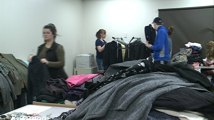 Students looking for professional clothing donations