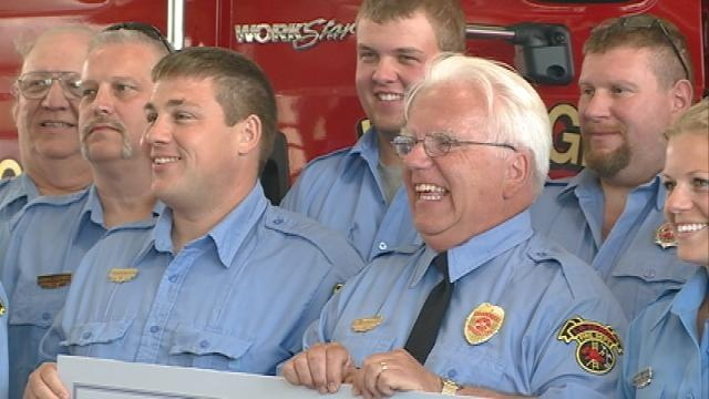 La Farge firefighter receives national recognition