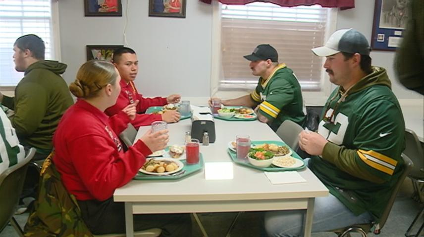 Members of Green Bay Packers visit Challenge Academy