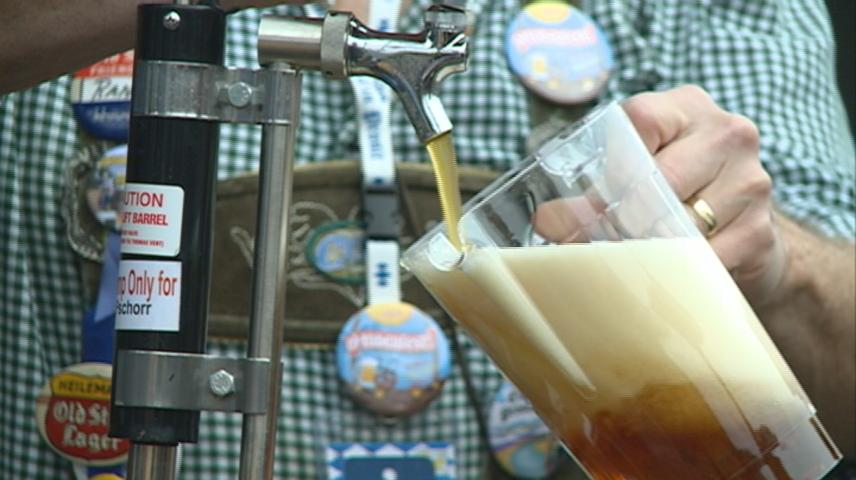 Tapping of the Golden Keg, Edelweiss Parade helps Oktoberfest celebrations get underway