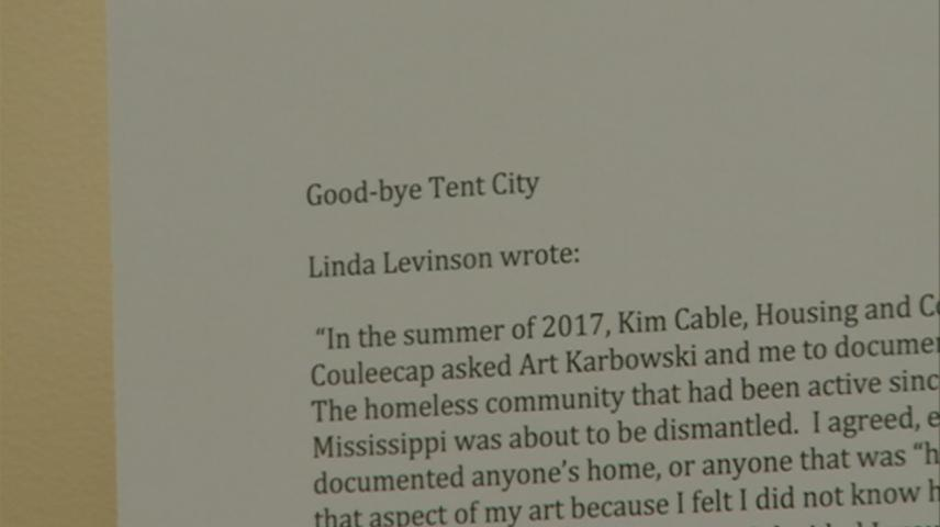 Final days of La Crosse's Tent City are being remembered with an art exhibit