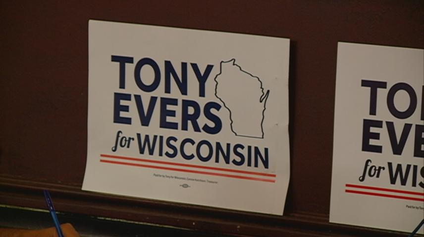 Gubernatorial nominee Tony Evers rallies supporters during La Crosse visit