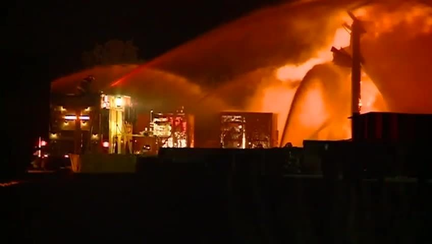 No one injured in large fire on French Island