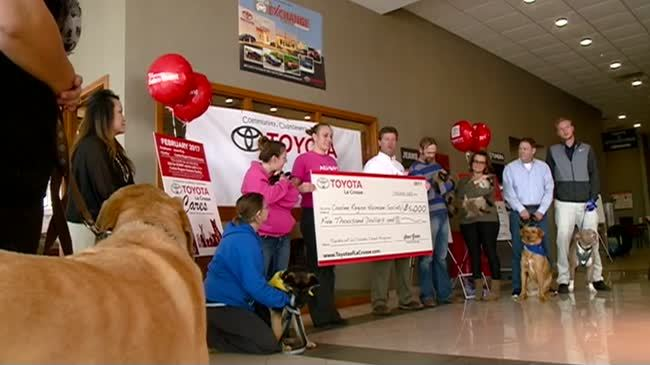 Toyota of La Crosse makes donation to humane society
