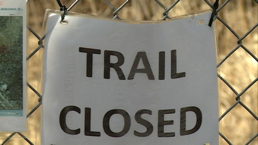 Spring weather closes trails, ball fields