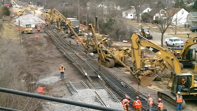 Major construction work on proposed second rail line
