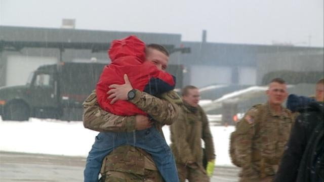 Area National Guard unit returns home in time for holidays