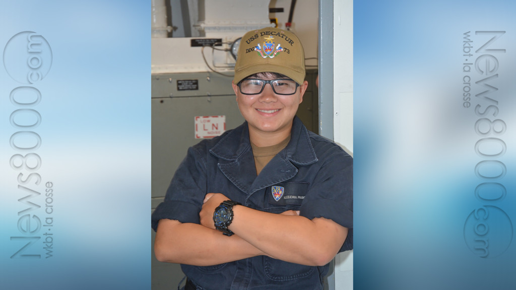 La Crosse native is a U.S. Navy destroyer Sailor