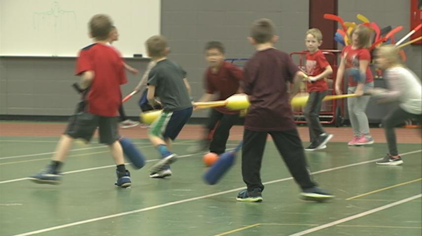 La Crosse area kids getting some winter exercise at UWL 'Youth Sport and Fitness Camp'