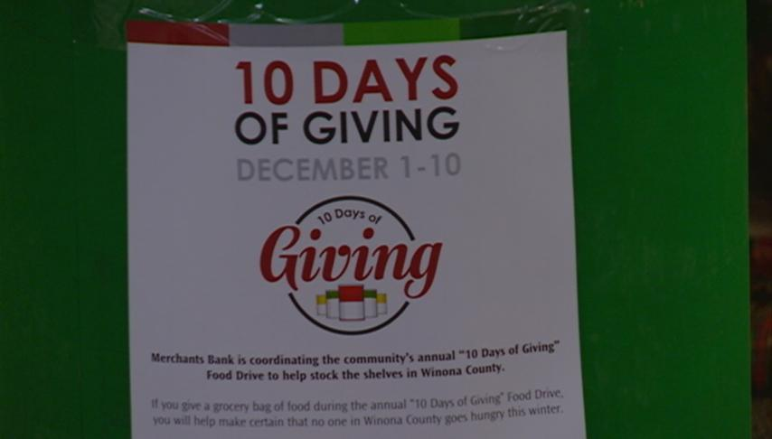 UPDATE: 10 Days of Giving kicks off in Winona