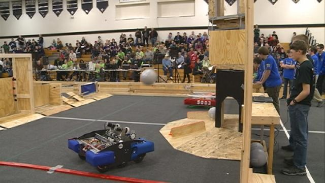 Local students compete in 8th Annual FIRST Robotics Competition