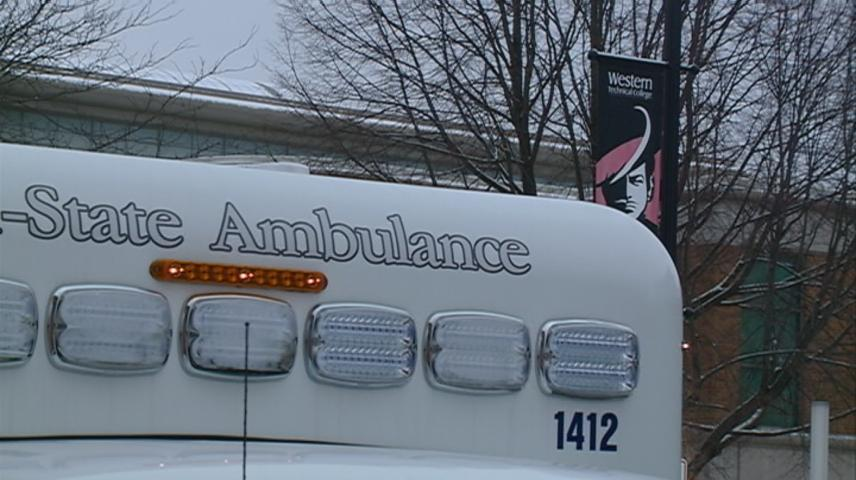 Ambulance donated to Western Technical College in La Crosse
