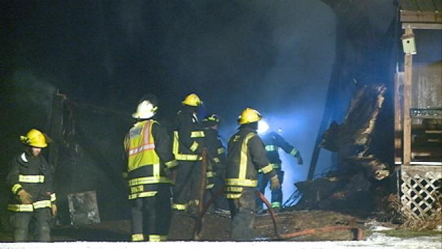 Fire destroys large shed in Bangor Township