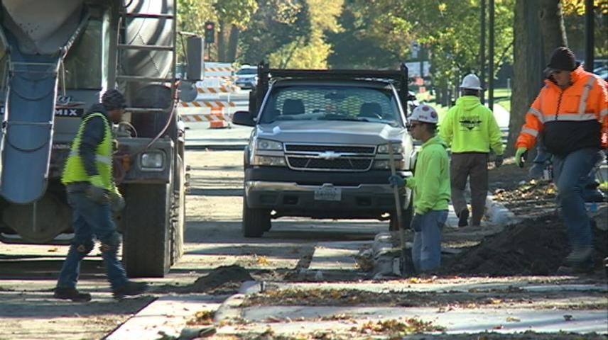 Construction on Cass Street nearing completion