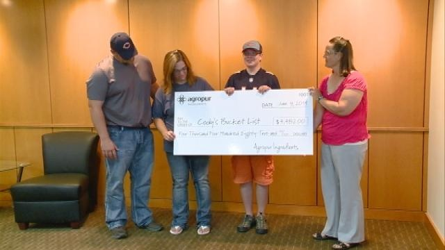 Business helps area boy complete his bucket list