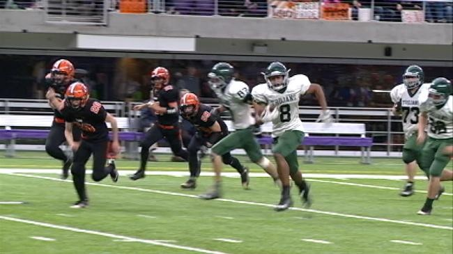 Carlson carries for four touchdowns, Rushford-Peterson rolls past Class A semifinals