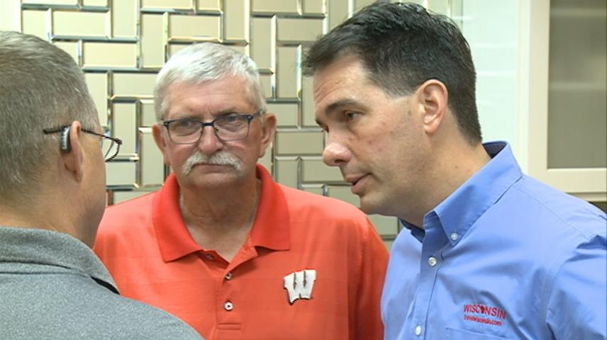 Governor Walker visits Coon Valley, giving updates on financial assistance for flood victims