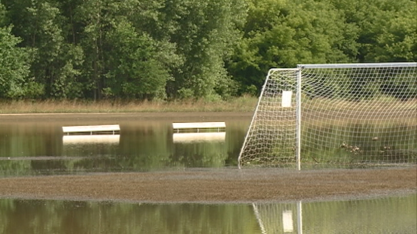 La Crosse youth soccer complex still underwater following storms