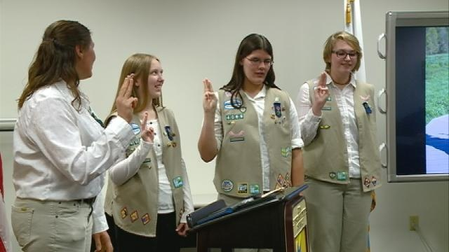 Area girl scouts receive highest honor for cadets