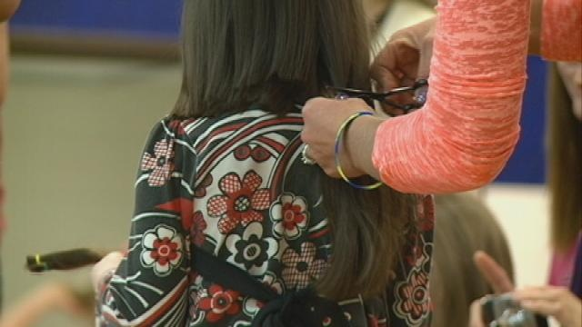 New Lisbon students, community members donate hair for good cause