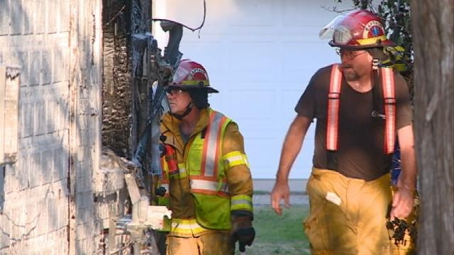 Weather forces crews to call for backup to battle Holmen house fire