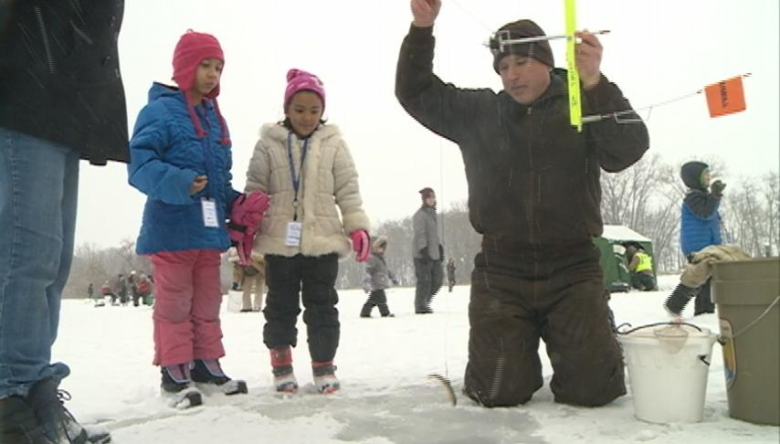 U.S. Fish and Wildlife Service hosts Ice Fishing for Kids