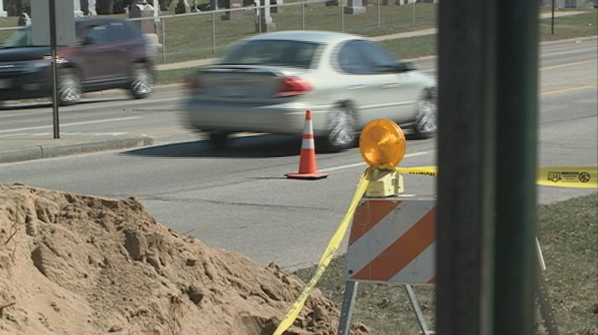 Construction along Losey Boulevard in La Crosse