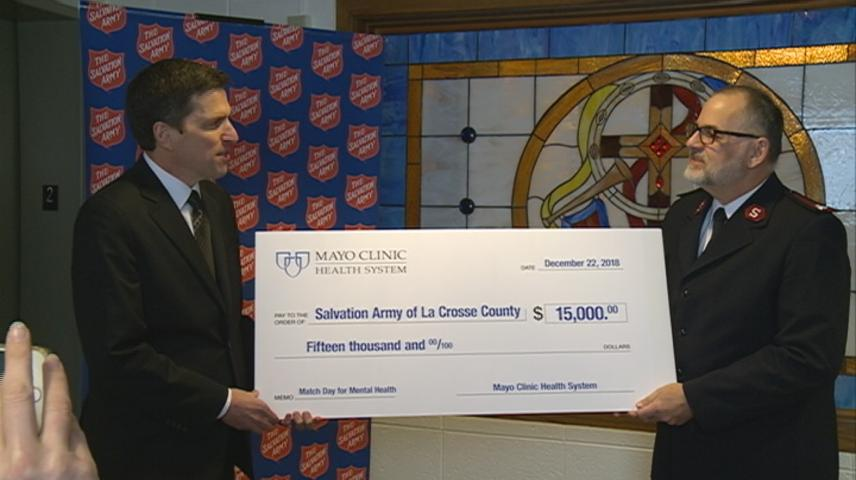 $15,000 from match day for Salvation Army in La Crosse