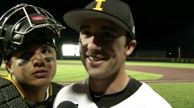 WATCH: Iowa's Mason McCoy hits for cycle