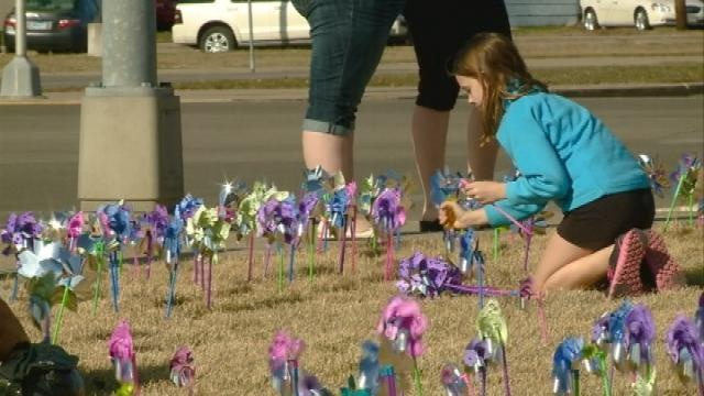 Pinwheel display highlights child abuse, neglect problem