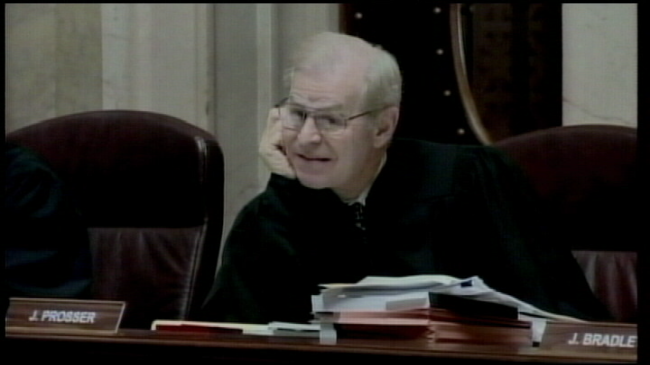 Justice Prosser says goodbye to the Wisconsin Supreme Court