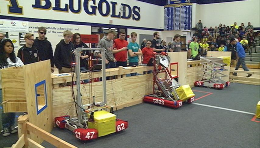 Robotics teams from all over the region meet for a preseason scrimmage