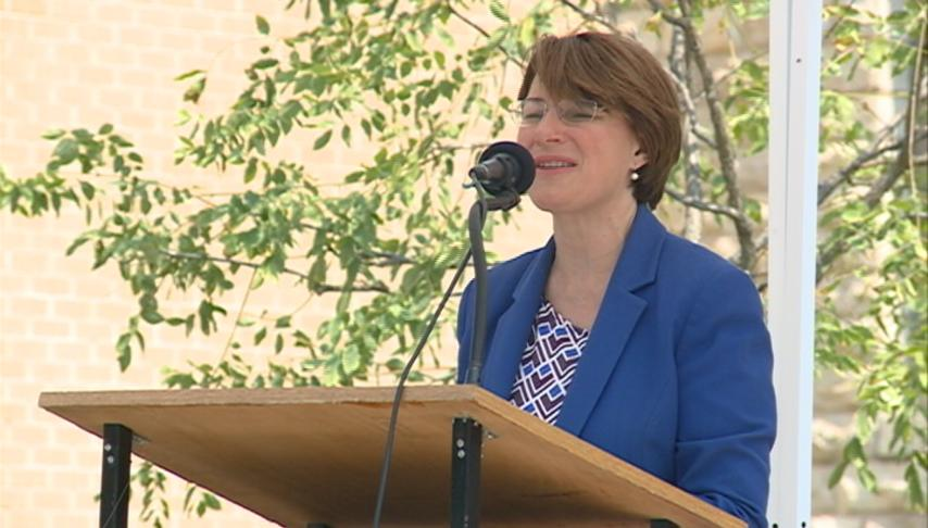 Amy Klobuchar visits Rushford 10 years after historic flooding