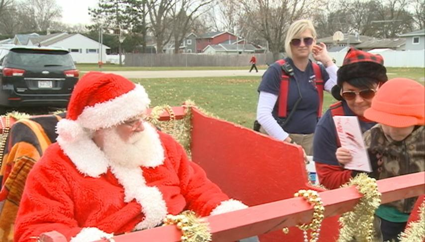 Town of Campbell Fire Department escorts Santa around French Island